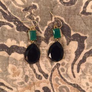 Navy & teal chandelier earrings